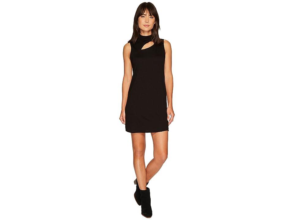 Lanston Cut Out Turtleneck Mini Dress (Black) Women
