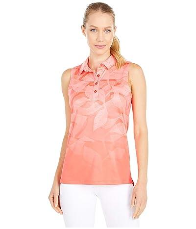 Nike Golf Dri-FITtm Fairway Summer Print Sleeveless Polo (Laser Crimson/Laser Crimson) Women