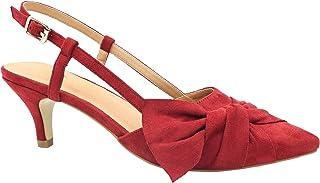 09b44a1651 Greatonu Women Shoes Bow Tie Kitten Heels Slingback Dress Pumps Court Shoes
