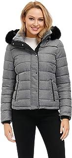 Women's Hooded Puffer Jacket Short Winter Puffer Coat...