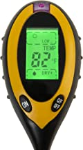 Beslands Soil Tester 4 in 1 Earth Moisture Ph Meter Value Soil Temperature and Sunlight Intensity Test for Gardening Agric...