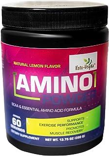 Ketoveyda Amino Powder, BCAA & Essential Amino Acid Formula - Supports Workout Health & Muscle Recovery - Natural Lemon Fl...