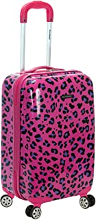 "Rockland 20"" Polycarbonate Carry on, Magenta Leopard (Purple) - F191"