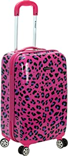 20 Inch Carry On Skin, Magenta Leopard, One Size