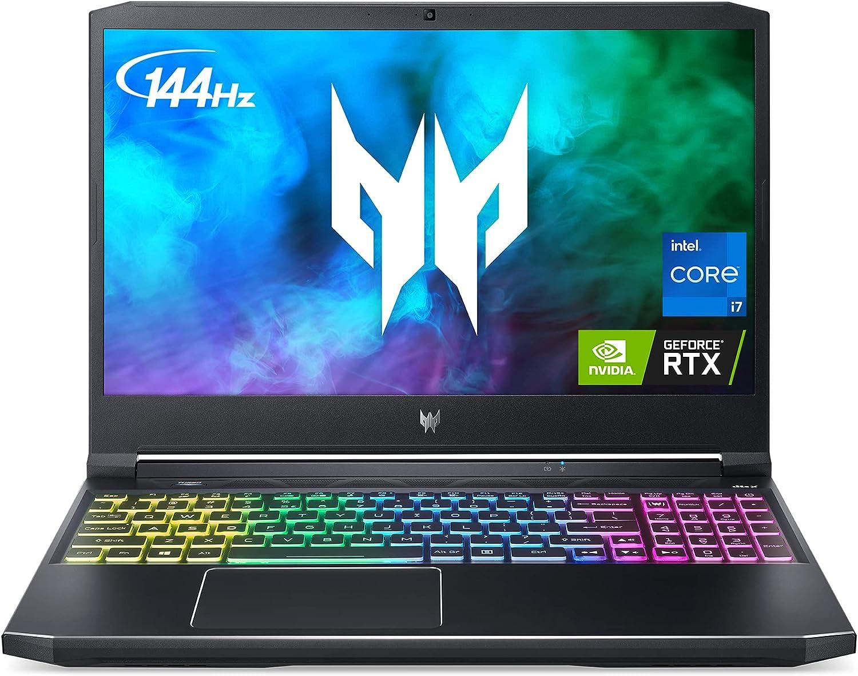 Acer Predator Helios 300 (PH315-54-760S) 15.6″ 144Hz 3ms Gaming Laptop, 11th Gen Core i7 8-Core, 16GB RAM, 512GB SSD