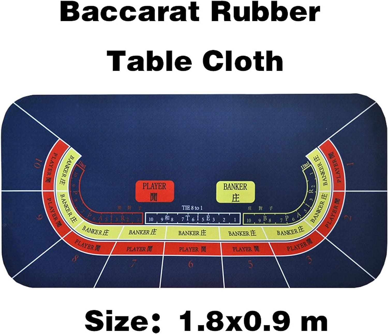 WERTYU Poker Tablecloth 18090cm Baccarat Texas Las Vegas Mall Blac Mesa Mall Rubber Suede