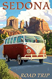 Sedona, Arizona - Camper Van Cruise (16x24 Giclee Gallery Print, Wall Decor Travel Poster)