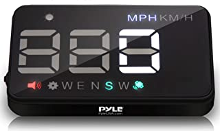 Pyle Universal 3.5'' Car HUD - Head-Up Display Multi-Color Windshield Screen Projector Vehicle Speed & GPS Navigation Comp...
