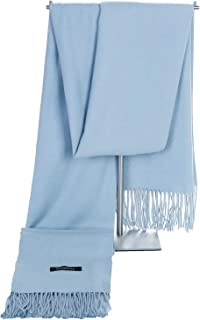 Pashmina Shawl Scarf for Women, All Weather Wear Large Soft Wrap in Solid Colors