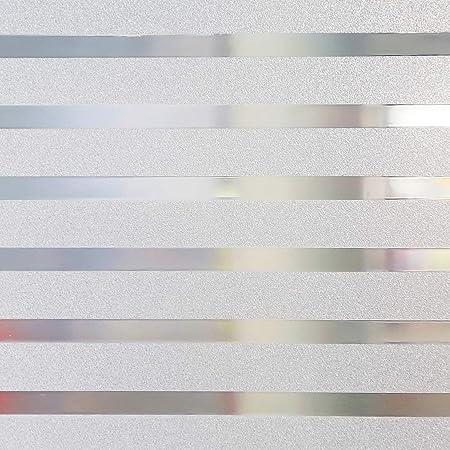 Fltaheroo Film Antid/éRapant pour Vitres en Verre pour Vitrage Film de Givrage Film pour Fen/êTres Film de Fen/êTre Statique Opaque 60X400Cm Blanc