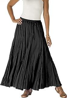 Women's Plus Size Cotton Crinkled Maxi Skirt