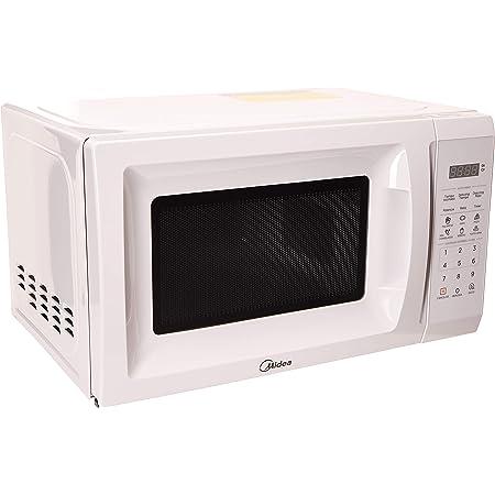 Midea MMDP07S2CW Horno Microondas con Capacidad de 21 Litros o 0,7 Pies Cúbicos, en Color Blanco