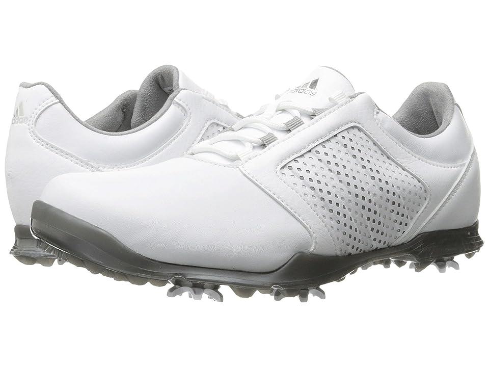 adidas Golf Adipure Tour (Ftwr White/Light Onix/Iron Metallic) Women's Golf Shoes