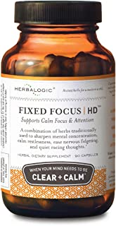 Herbalogic - Fixed Focus HD Herb Capsules - Supports Calm Attention & Sustained Mental Focus - Contains White Tea, a Natur...