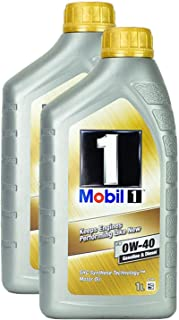 2x Motoröl Mobil 1 Fs 0w 40 1l Shc Synthese Technologie Diesel Benzin Hochleistung Langlebig Motoroil Oil One Protection Formula Shc Kaltstart Motorenöl Motorschutz Lange Lebensdauer