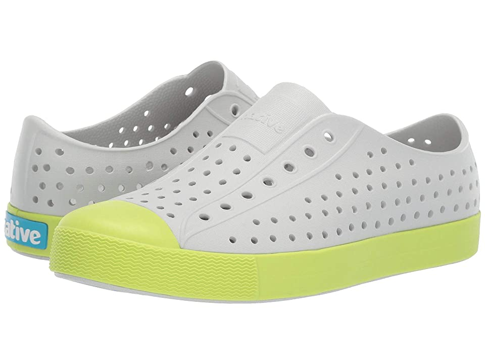 Native Kids Shoes Jefferson (Little Kid/Big Kid) (Mist Grey/Sunny Green) Kid