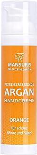 Bio Handcreme Orange - Mit Arganöl für Hände, Füße & Nägel, Naturkosmetik für sehr trockene und rissige Hände, Nagelcreme für brüchige Nägel, schnell einziehend & nicht fettend, Orangeduft 70 ml