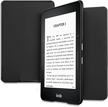 "Kindle Voyage E-Reader Case 6"", IVSO Ultra Slim Stand Cover Case for Amazon Kindle Voyage E-Reader 6"" Inch , Black"