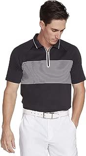 Skechers Men's Fade Stripe Modern Fit Short Sleeve Zip Golf Polo