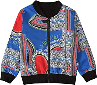 kitt Kids Girls Boys Autumn Dashiki African Jacket Windproof Coat Warm Outwear (12M-5T)