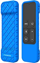 MoKo Protective Case Fit Apple TV 4K/4th Gen Remote, Flexible Lightweight Non-Slip-Grip & Secure Silicone Cover Compatible with Apple TV 4K Siri Remote Controller - Blue