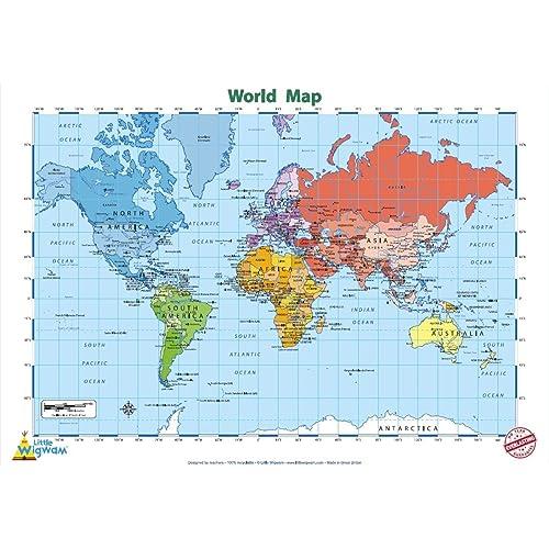 Continent Map Amazon Com