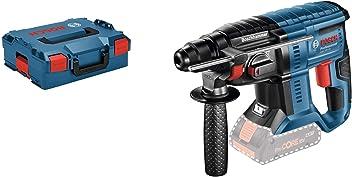 Bosch Professional GBH 18V-20 Martillo perforador combinado, 1,7 J, diámetro máximo hormigón 20 mm, SDS plus, sin batería, en L-BOXX, 18 W, 18 V, Negro/Azul/Rojo, Size, Set de 2 Piezas