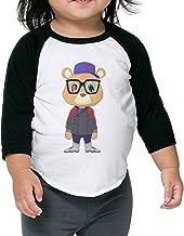 LiZizz Boy's & Girl's Kanye West Bear 3/4 Sleeve Raglan T-Shirts