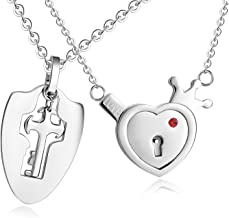 SunnyHouse Jewelry His & Hers Matching Set Your Key to My Heart Couple Pendant Necklace Key and Lock Style in a Gift Box