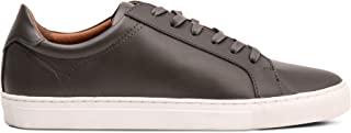 Dunross & Sons Men's Fashion Sneaker. Clean Casual Leather Low Top Crafted with Premium Genuine Leather and Ortholite Remo...