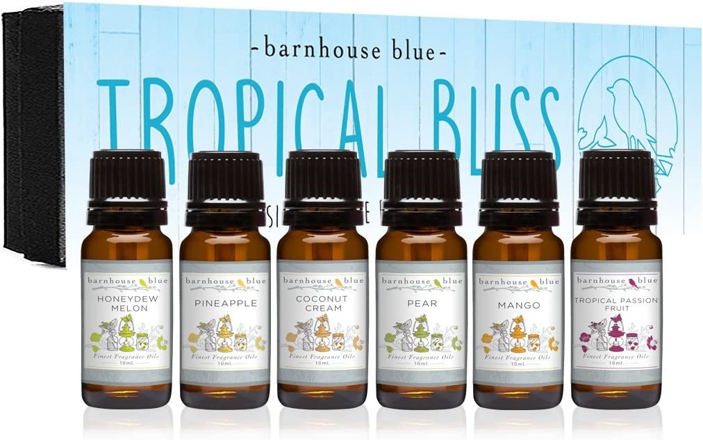 Premium Fragrance Free All items in the store shipping anywhere in the nation Oils - Tropical Bliss 10ml Gift Bottle 6 Set