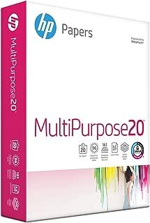 HP Printer Paper, Multipurpose20, 8.5 x 11 Paper, Letter Size, 20lb paper, 96 Bright, 500 Sheets / 1 Ream (112000R) Acid Free Paper