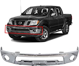 MBI AUTO - Chrome, Steel Front Bumper Face Bar Shell for 2005-2017 Nissan Frontier Pickup W/Fog 05-17, NI1002143