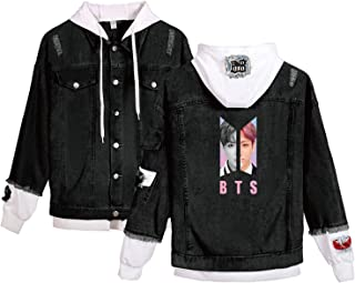 Kpop BTS Love Yourself Denim Jacket Jimin SUGA Jungkook V Hoodie Coat Merch