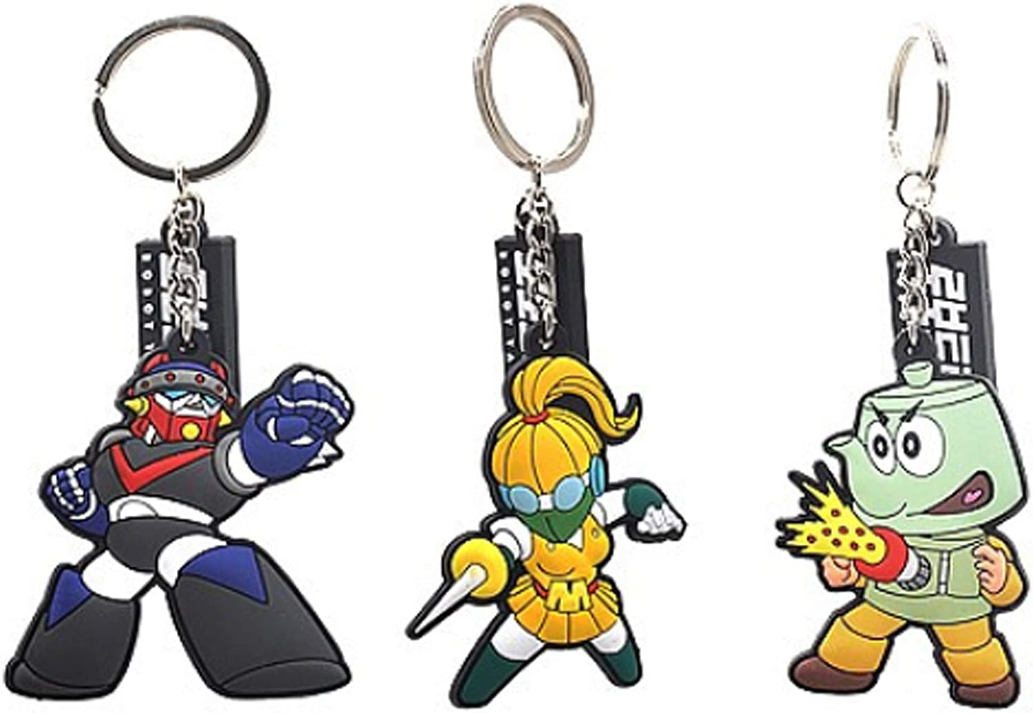 3Pcs Key Ring Large special price !! Set Korean Robot Decor for Character Room 70% OFF Outlet Christm