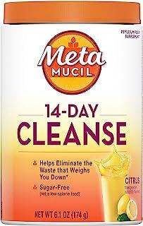 Metamucil, 14-Day Cleanse, Psyllium Husk Fiber Supplement, Eliminate Waste and Promote Regularity, Sugar-Free, Citrus Flav...