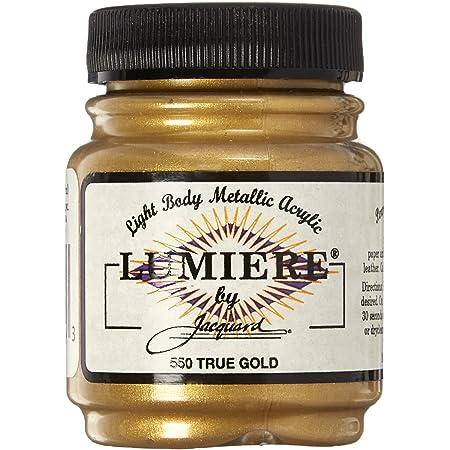 Jacquard Products 2.25 oz Lumiere Metallic Acrylic Paint, True Gold