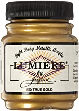 Jacquard Products 442392 Lumiere Metallic Acrylic Paint 2.25 Ounces-True Gold