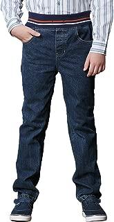 Big Boys Kids Husky Rib Waist Heavy Denim Jeans Pants LLB627