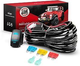 Nilight 10014W LED Light Bar Wiring Harness Kit 14AWG Heavy Duty 12V 5Pin Rocker Laser On Off Waterproof Switch Power Rela...