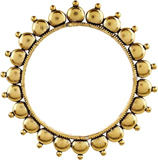 Oxidized Metal Gold Plated Indian Kada Bangle Bracelet Jewelry for Women