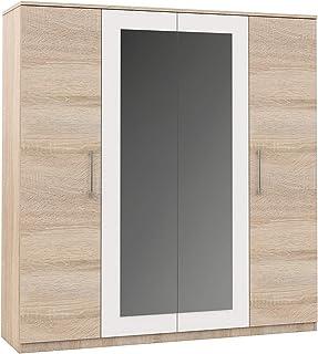 Imperial Avrora Armoire en chêne Sonoma/blanc 4 portes