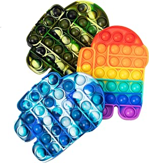 اسباب بازی LANQKUISZ Pop Pie Tie Dye Bubble Fidget، اوتیسم برای رفع فشارهای عاطفی برای بزرگسالان (3 عدد در بین ما)