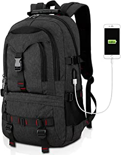 Laptop Backpack 17-Inch Bag with USB Charging Port & Headphone Port