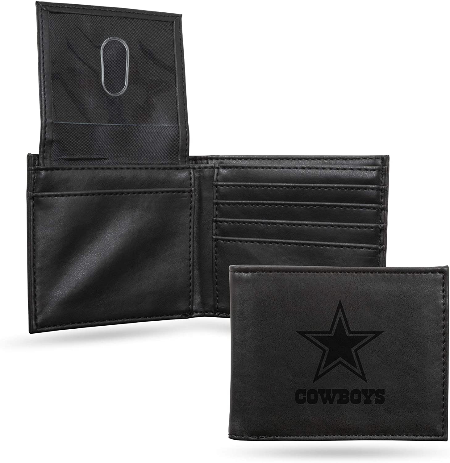 NFL Rico Industries Laser Engraved Wallet Los Angeles Mall Dallas Inexpensive Cowbo Billfold