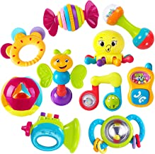 iPlay, iLearn 10pcs Baby Rattles Teether, Shaker, Grab and Spin Rattle, Musical Toy Set,..