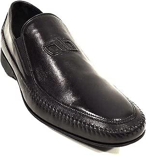 Men's Black Leather Loafer Shoes