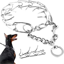 ImPetZ by CranoGraphix Training Prong Collar for Medium and Large Dogs - Quick Release Chrome Link Pincher - Easy Walking Command Correction Choker