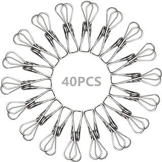 40 قطعة 2.2 بوصة متعددة الأغراض من مشابك الفولاذ المقاوم للصدأ من إيليفيلي، مشابك حبل الملابس متعددة الاستخدامات، الخطافات...