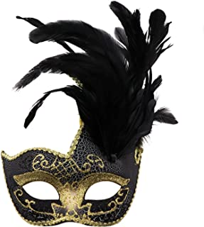 Feather Masquerade Mask,Venetian Costume Christmas Party Mask.